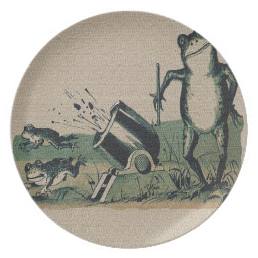 Vintage Frog Party Plates