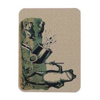 Vintage Frog Rectangular Photo Magnet