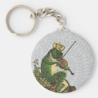 Vintage Frog Prince Charming Keychain