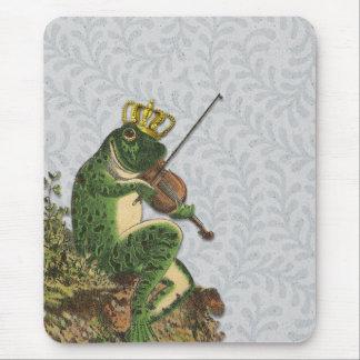 Vintage Frog Prince Charming Mouse Pad