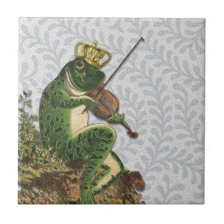 Vintage Frog Prince Charming Tile