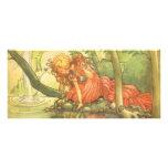 Vintage Frog Prince; Princess and Her Reflection Rack Card