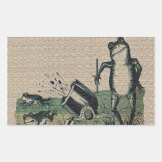 Vintage Frog Rectangular Sticker