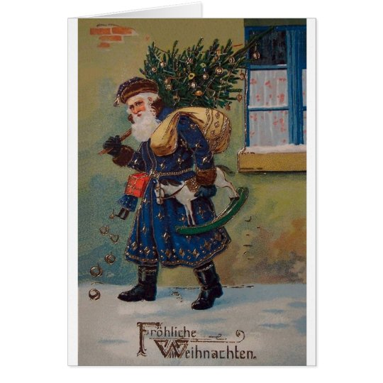 vintage fr hliche weihnachten christmas card zazzle. Black Bedroom Furniture Sets. Home Design Ideas