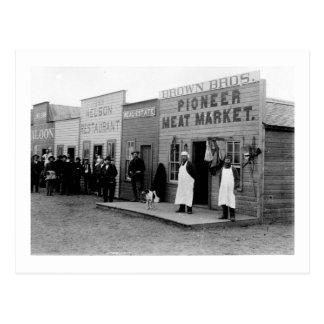 Vintage Frontier Town 5 Postcard