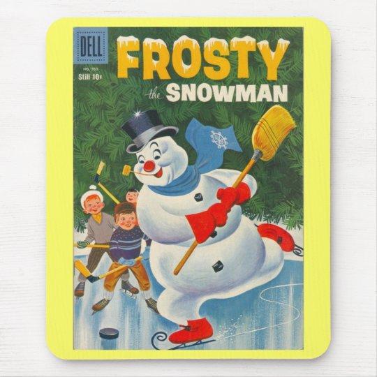 Vintage Frosty on Skates Mouse Pad