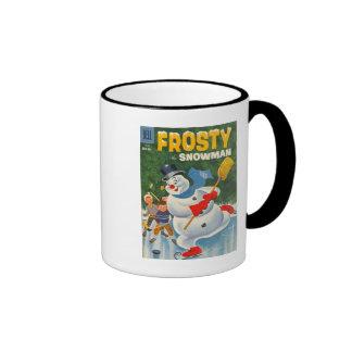 Vintage Frosty on Skates Ringer Mug