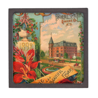 Vintage Fruit and Floral Seed Catalog Gifts Premium Trinket Box