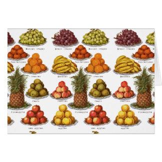 Vintage Fruit Blank Card