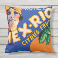 VINTAGE FRUIT BOX Throw Cushion