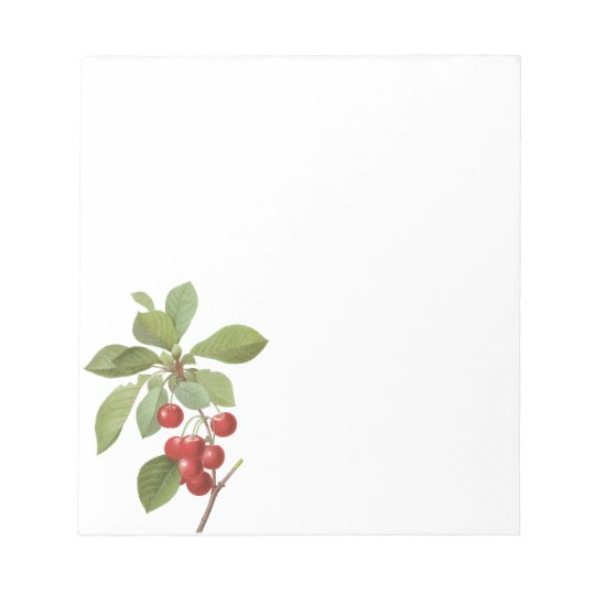 Vintage Fruit Cherry Food, Cherries by Redoute Notepad