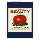 Vintage Fruit Crate Label, Arcadia Beauty Tomatoes
