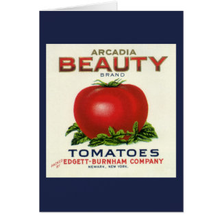 Vintage Fruit Crate Label, Arcadia Beauty Tomatoes Card