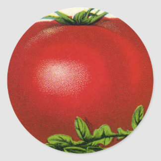 Vintage Fruit Crate Label, Arcadia Beauty Tomatoes Classic Round Sticker