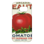 Vintage Fruit Crate Label, Arcadia Beauty Tomatoes Samsung Galaxy S7 Case