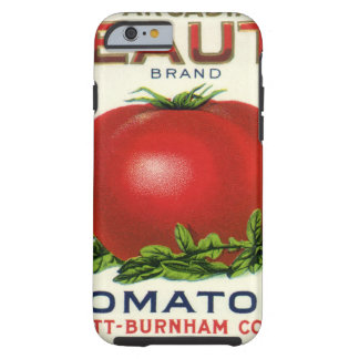 Vintage Fruit Crate Label, Arcadia Beauty Tomatoes Tough iPhone 6 Case