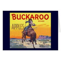 Vintage Fruit Crate Label Art, Buckaroo Apples