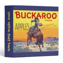 Vintage Fruit Crate Label Art, Buckaroo Apples Binder
