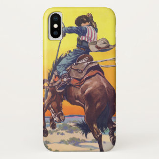 Vintage Fruit Crate Label Art, Buckaroo Apples iPhone X Case
