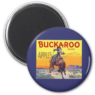 Vintage Fruit Crate Label Art, Buckaroo Apples Magnet