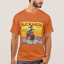 Vintage Fruit Crate Label Art, Buckaroo Apples T-Shirt