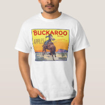Vintage Fruit Crate Label Art, Buckaroo Apples