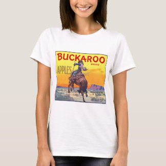 Vintage Fruit Crate Label Art, Bucking Cowboy T-Shirt