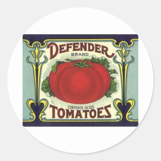 Vintage Fruit Crate Label Art, Defender Tomatoes