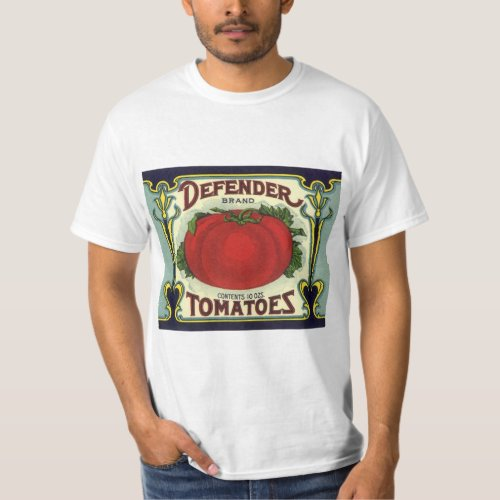 Vintage Fruit Crate Label Art, Defender Tomatoes