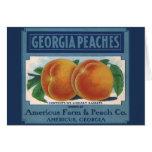 Vintage Fruit Crate Label Art, Georgia Peaches Card
