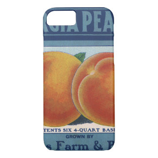 Vintage Fruit Crate Label Art, Georgia Peaches iPhone 8/7 Case