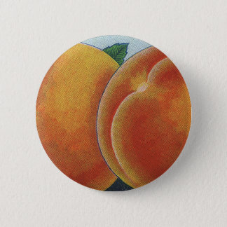 Vintage Fruit Crate Label Art, Georgia Peaches Pinback Button