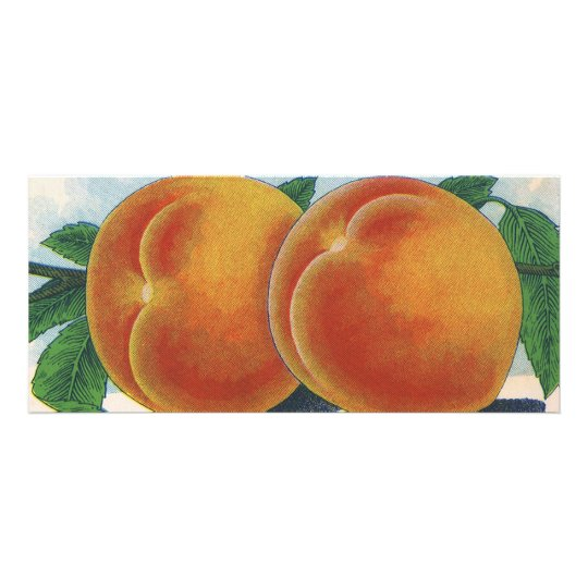 Vintage Fruit Crate Label Art, Georgia Peaches Rack Card