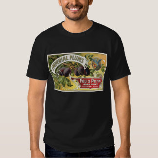 Vintage Fruit Crate Label Art, Imperial Plums Tshirts