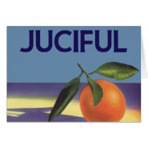 Vintage Fruit Crate Label Art, Juciful Oranges