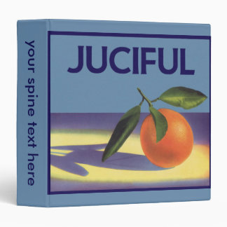 Vintage Fruit Crate Label Art, Juciful Oranges 3 Ring Binder
