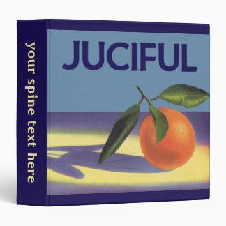 Vintage Fruit Crate Label Art, Juciful Oranges Binder