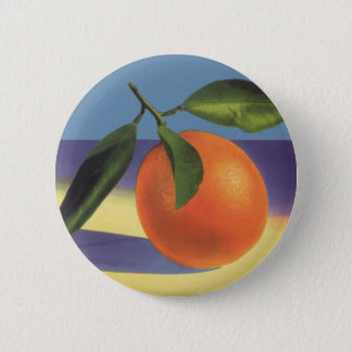 Vintage Fruit Crate Label Art, Juciful Oranges Button