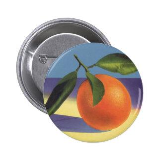 Vintage Fruit Crate Label Art, Juciful Oranges Button