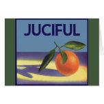 Vintage Fruit Crate Label Art, Juciful Oranges Card