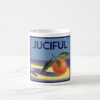 Vintage Fruit Crate Label Art, Juciful Oranges Classic White Coffee Mug