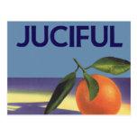 Vintage Fruit Crate Label Art, Juciful Oranges Postcard