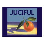Vintage Fruit Crate Label Art, Juciful Oranges Postcards