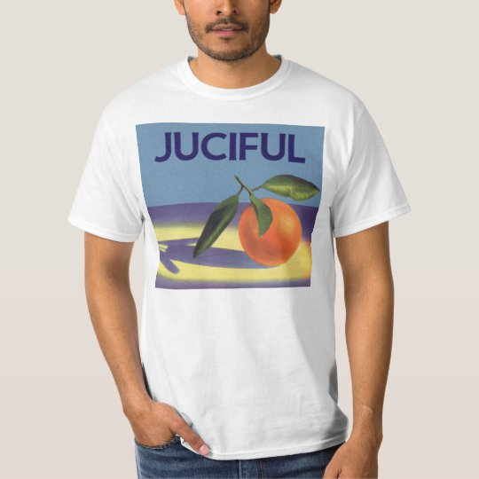 Vintage Fruit Crate Label Art, Juciful Oranges T-Shirt