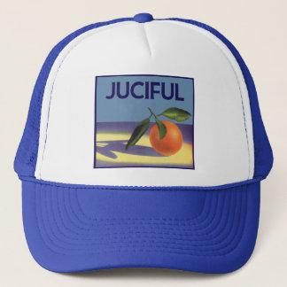 Vintage Fruit Crate Label Art, Juciful Oranges Trucker Hat