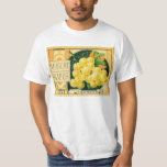 Vintage Fruit Crate Label Art, Muscat Grapes T-Shirt