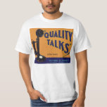 Vintage Fruit Crate Label Art, Old Fashioned Phone T-Shirt