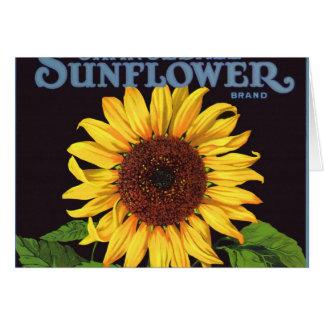 Vintage Fruit Crate Label Art Orangedale Sunflower Card