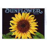 Vintage Fruit Crate Label Art Orangedale Sunflower Greeting Card