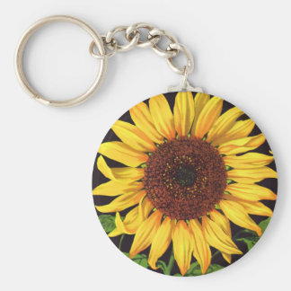 Vintage Fruit Crate Label Art Orangedale Sunflower Keychain